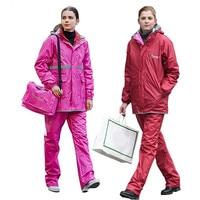 Outdoor thick double layer men women raincoat wear on both sides sports riding hiking raincoats men women rainwear gear poncho