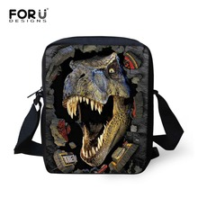 FORUDESIGNS 3D Dinosaurs Animal Prints font b Men b font Messenger font b Bag b font