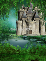 Thin Fabric Cloth Printed Photography Background Castle Backdrop 5ft X 7ft D 2967