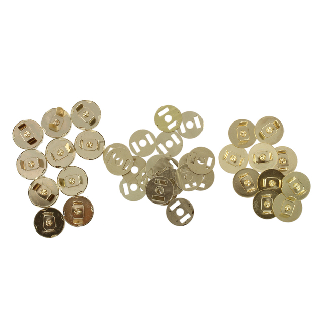 10 Pcs Magnetic Snap Fasteners Clasps Ons For Handbag Bags 18x14mm