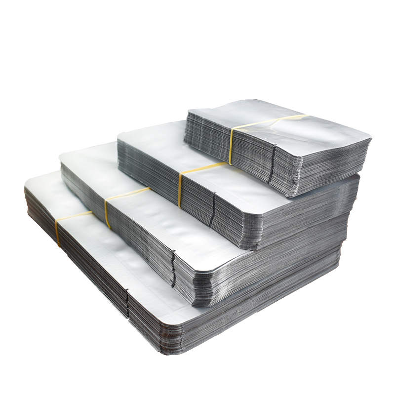 100pcs Silver Vacuum Sealer Aluminum Foil Packing Bags Zip Lock Storage Pouches For Home Kitchen Tools