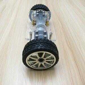 Image 3 - 2WD DIY Набор роботов, акриловая пластина, рама шасси автомобиля, самобалансировка, мини два привода, 2 колеса, 176*65 мм технология, игрушки для изобретения