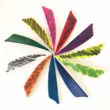 50Pcs 3inch Feather Single sided camouflage 11 Colors Shield Cut Vanes Arrow Feathers Turkey Feather Outdoor Hunting Competition 50pcs high quality 3inch feath shield cut vanes turkey feather violet arrow real feather arrow feathers vanes bow arrow