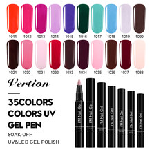 Verntion capa superior LED lámpara UV Gel para uñas arte pluma Gel esmalte uñas pluma brillo híbrido uñas arte laca Primer Gel polaco(China)