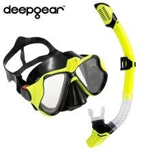 DEEPGEAR Myopie Plongée Ensemble mont Caméra sous-marine masque de plongée tuba Noir silicone masque pour adulte Optique plongée masque pour de vision rapprochée