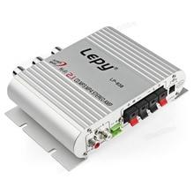 Lepy 12 V Mini Amplificador Hi-Fi Amplificador Radio MP3 Estéreo para Autos Motos Casa