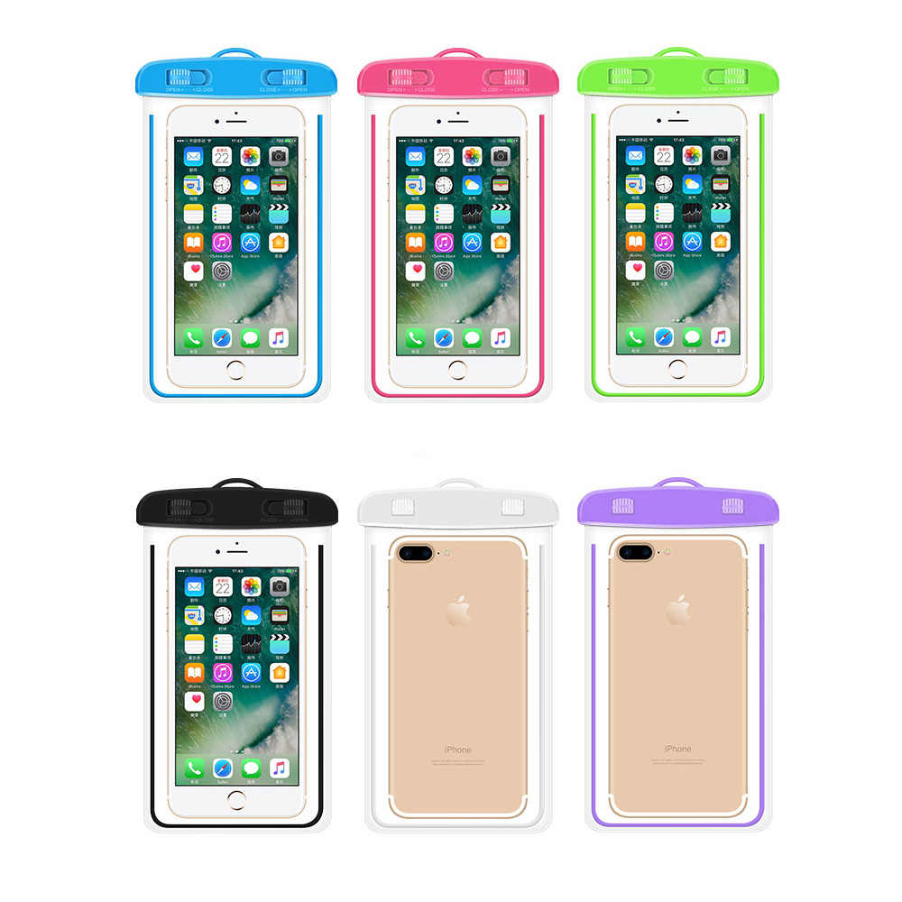 buy popular 778c8 633f3 Clear Watertight Belt Waterproof Case Cover Against water Protector Pouch  Phone Bag For iPhone Samsung Xiaomi Huawei