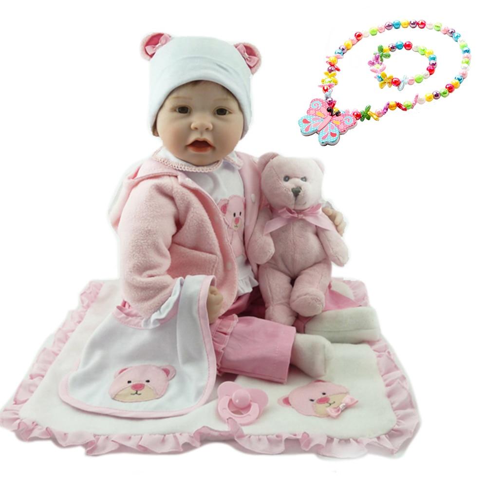 55cm boneca reborn siliconen reborn baby poppen com corpo de siliconen menina baby poppen kinderen verjaardagscadeau bebe reborn-in Poppen van Speelgoed & Hobbies op  Groep 1