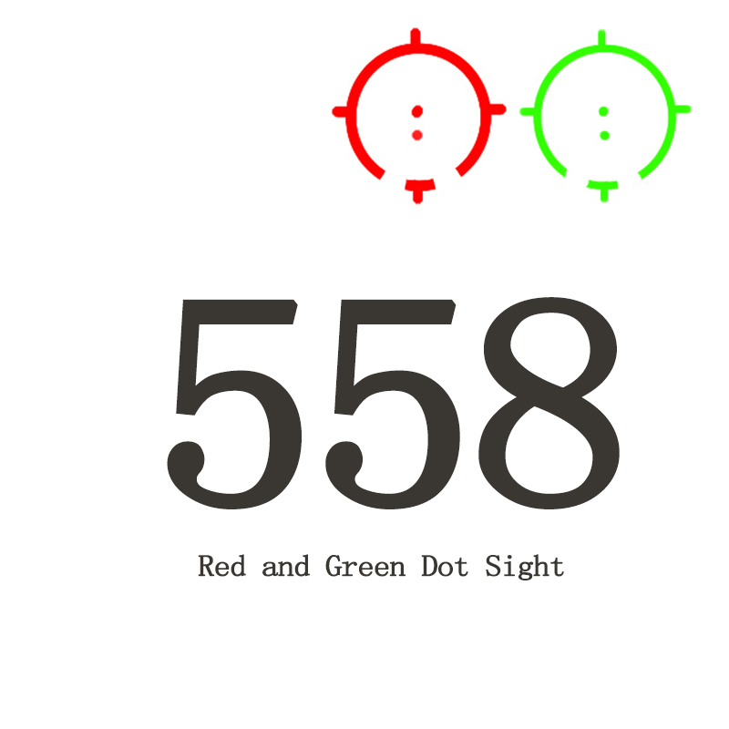 Tactical 558 Collimator Holographic Sight Red Green Dot Optic Scope Reflex Sight With 20mm QD Rail Mount For Airsoft