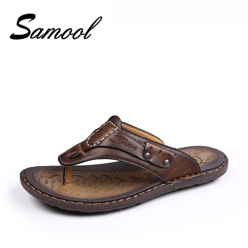Summer Men Flip Flops High Quality Beach Sandals Non-Slip Male Breathable Waterproof Casual House Slippers Zapatos Hombre DX5