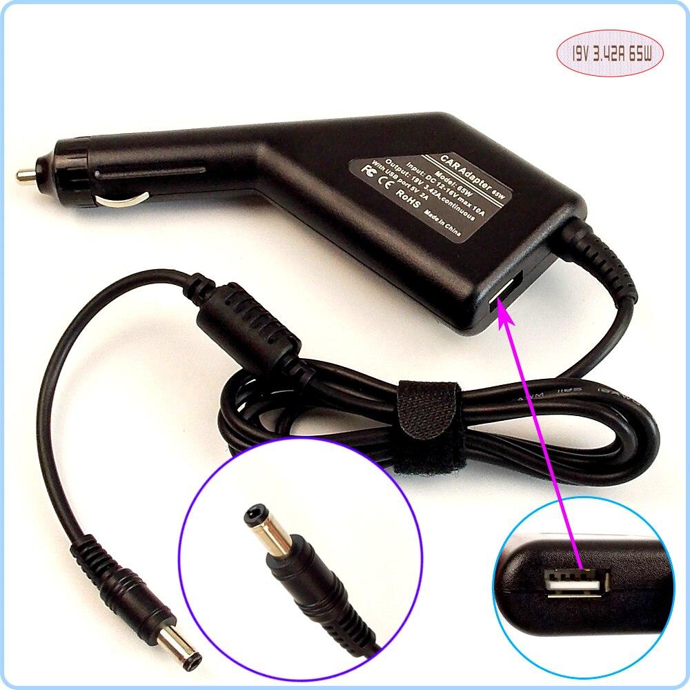Автомобильный адаптер постоянного тока для ноутбука источник питания + USB-порт для ASUS Z96 K52JB P50IJ SADP-65KB A5EB A5EC A6F A6JC UL50