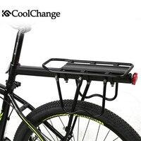 CoolChange Aluminium Alloy MTB Mountain Bike Luggage Carrier Bicycle Rear Seat Luggage Rack Cargo Racks Bearing 80kg Matt Black