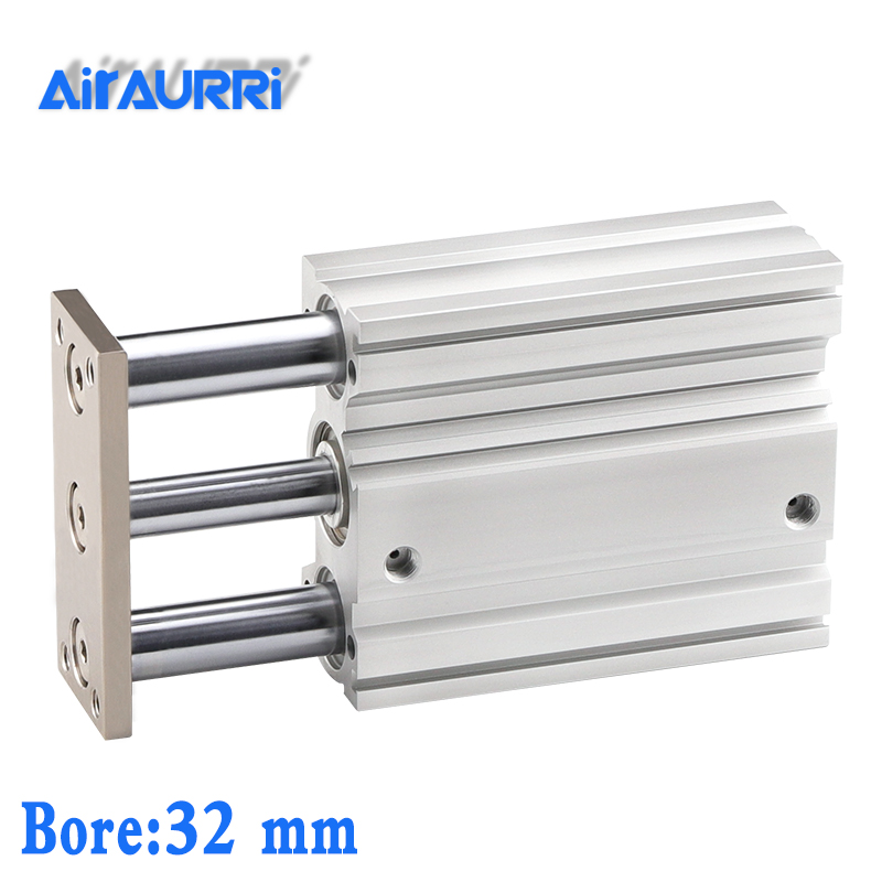 Slide Bearing Pneumatic Cylinder Compact Air Actuator MGQM32-25 MGQM32-30 MGQM32-40 MGQM32-25/30/40/50/75/100MGQM SMC TypeSlide Bearing Pneumatic Cylinder Compact Air Actuator MGQM32-25 MGQM32-30 MGQM32-40 MGQM32-25/30/40/50/75/100MGQM SMC Type