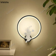 Background lamp bedroom bedside lamp cartoon bird children's room wall lamp living room wall CD50 W03(China)
