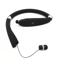 RAVI SX 991 Sports Bluetooth Headphones Retractable Foldable Neckband Wireless Headset Anti lost Waterproof Earphones Auriculars