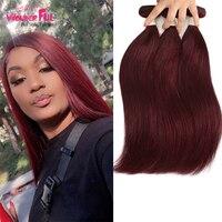 WAWonderful Brazilian Straight Hair 1/3/4 Bundles 10 30 inch Remy Ombre Hair 100% Human Weave Bundles 99J