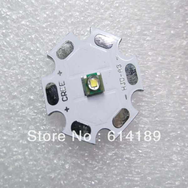 3W CREE R2 1A 268lm Cool White LED Emitter with 20mm Heating Star3W CREE R2 1A 268lm Cool White LED Emitter with 20mm Heating Star