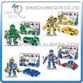 Mini Qute WTOYW DR. STAR cambio robot superhéroe del carro del coche del diamante bloque de plástico bloques de construcción de juguete educativo 3d juego