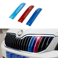 For Skoda Octavia A7 2015 2016 2017 Car Grille Sport Stripe Stickers external Decoration Accessories Car Styling