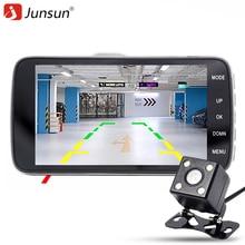 """Junsun câmera do carro dvr 4.0 """"full hd 1080 p gravador de vídeo registrator g-sensor de câmera de visão noturna carro dvrs traço cam"""