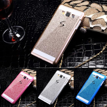 Bling glitter hard case para samsung galaxy grand prime g530 a3 a5 a7 A8 J1 J3 J5 J7 coque ace mini 2016 casos de telefone Tampa Traseira