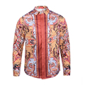 Men Shirt 2016 autumn Fashion Retro style print Shirt Long sleeve Slim Fit Casual Shirts personality design shirt free shipping