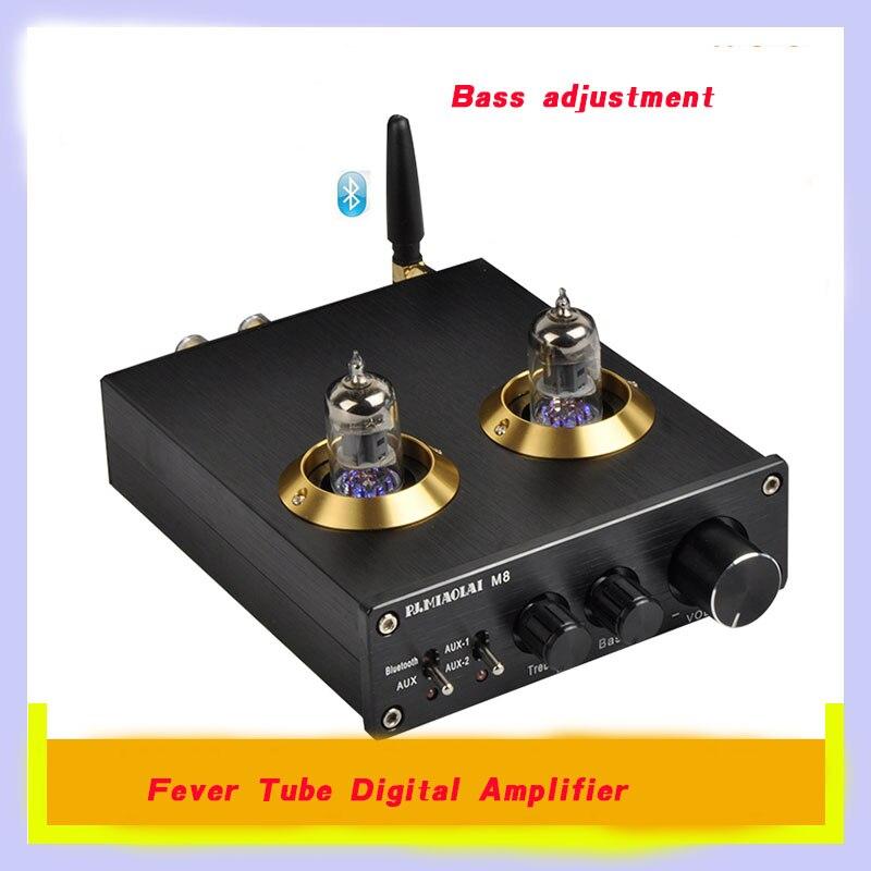 2018 M8 fever amplifier HiFi computer home high power Bluetooth tube digital amplifier