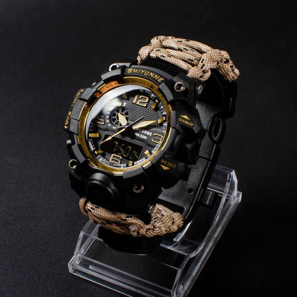 G Style SHOCK Sports Waterproof Military Watch Men's Watch Double Display Compass Chronograph Quartz Men's Watch Relogio