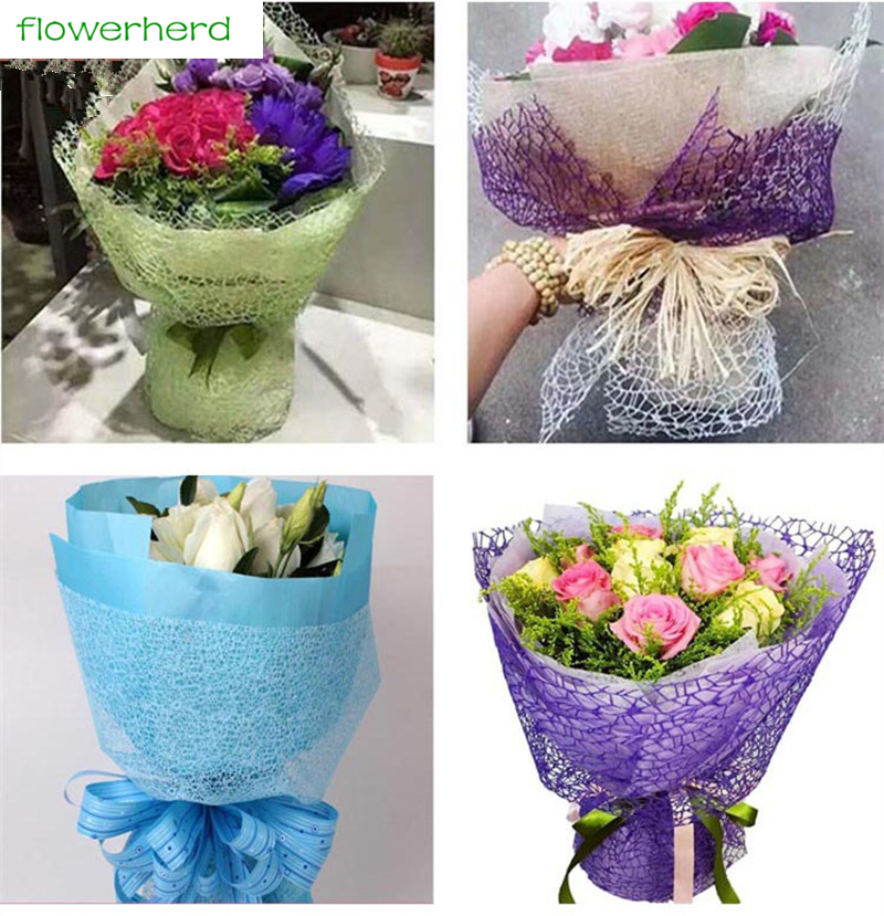 5 Yards*50cm/Roll High Quality Tissue Wrapping Paper Gift Packing Paper Flower Packing P ...