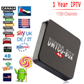 1 Año Europa Italia Árabe IPTV Suscripción S905 2 GB 16 GB Aadroid 5.1 Tv Box 2.4G/5 GHz WiFi BT4.0 UHD 4 K Inteligente Reproductor Medai