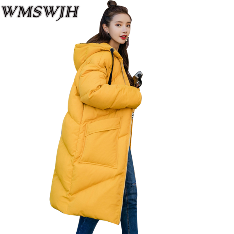 2017 New Winter Women Wadded Jacket Outerwear Plus Size Hooded Loose Thickening Casual Cotton Wadded Coat Parkas student WS299 linenall women parkas loose medium long slanting lapel wadded jacket outerwear female plus size vintage cotton padded jacket ym