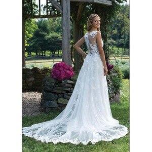 Image 3 - Fansmile New Vestido De Noiva White Lace Mermaid Wedding Dress 2020 Train Plus Size Customized Wedding Gown Bride Dress FSM 466M