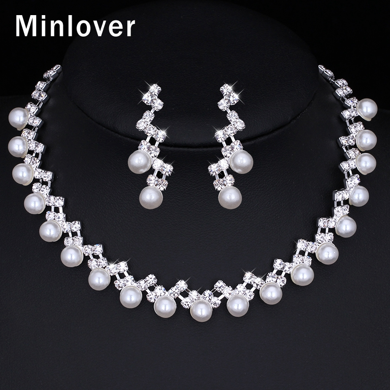 Classic Fashion Peal Jewelry Sets For Women Engagement: Minlover 2016 Fashion Jewelry Simulated Pearl Pendant