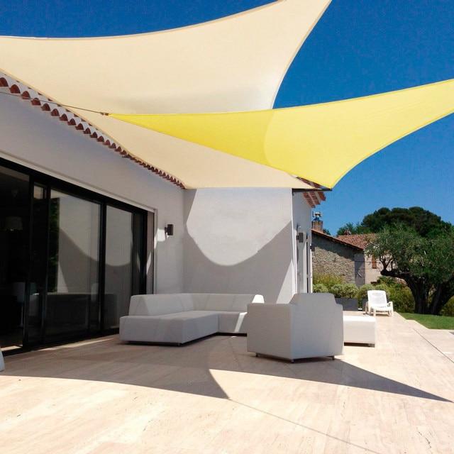 Jinguan Net 13u0027x13u0027 Beige Sun Shade Sail Canopy - Permeable UV Block Fabric & Jinguan Net 13u0027x13u0027 Beige Sun Shade Sail Canopy Permeable UV Block ...