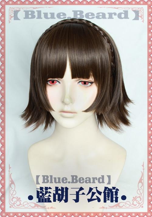 Persona5 Makoto Niijima Short Hair Cosplay Wig Halloween Role Play Wig Hair P5