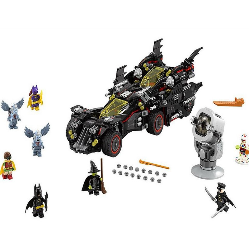 07077 LEPIN Batman Series The Ultimate Batmobile Model Building Blocks Enlighten DIY Figure Toys For Children Compatible Legoe