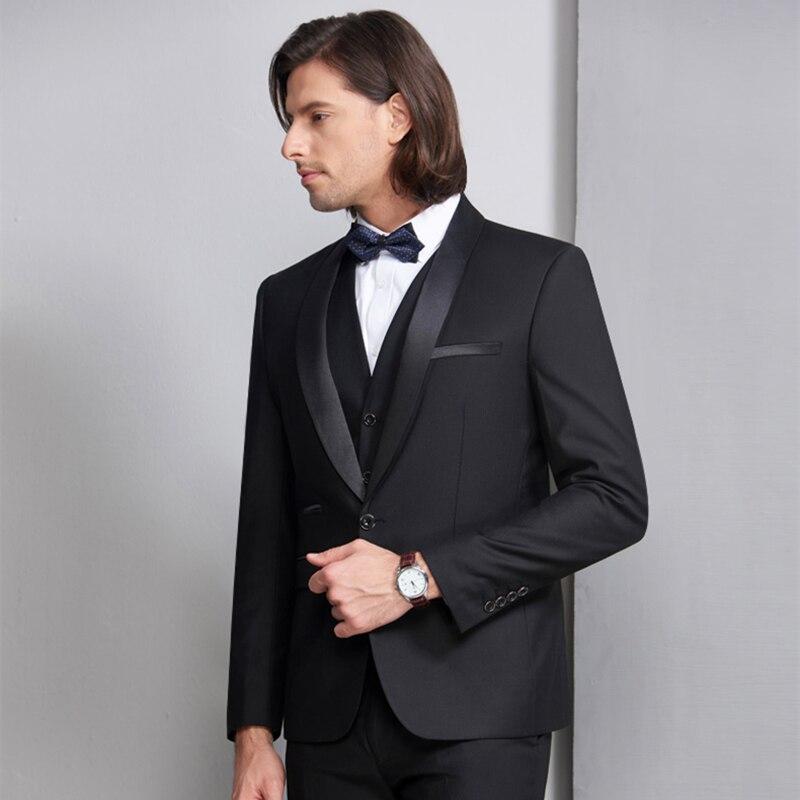 55ef7d2685 JAYCOSIN chaqueta + pantalón 2019 hombres es puro color de traje de corte  Slim de ocio