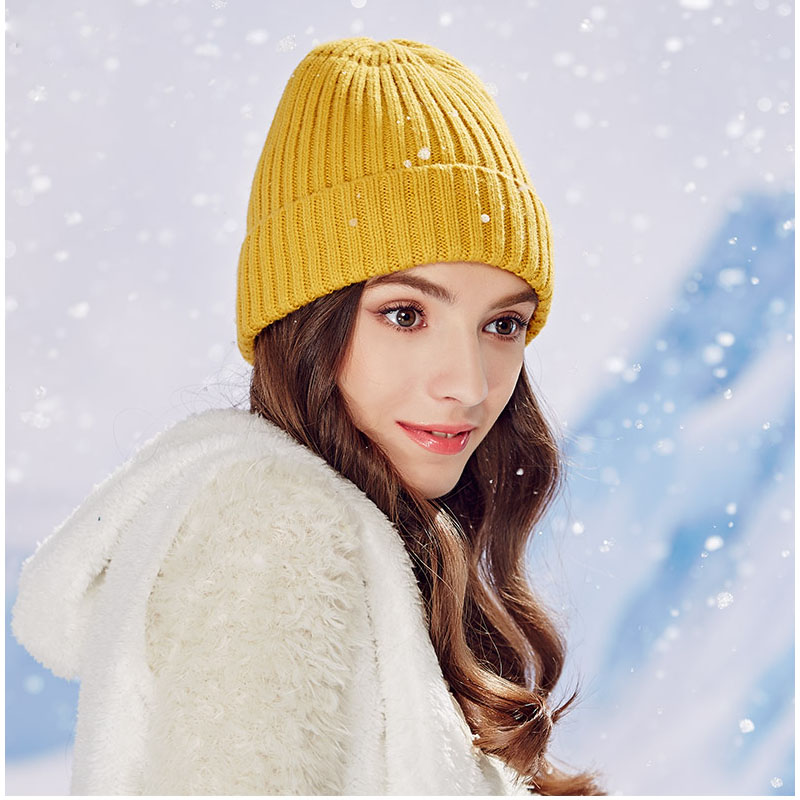 Pointed hat Candy Color Casual 2015 Autumn Winter Women Knitted Gorro Cap Skullies Polo Bad Hair Day Beanie Hat Bonnet Femme skullies hot sale candy sets color pointed hat knitting hat sets hat cap 1866951