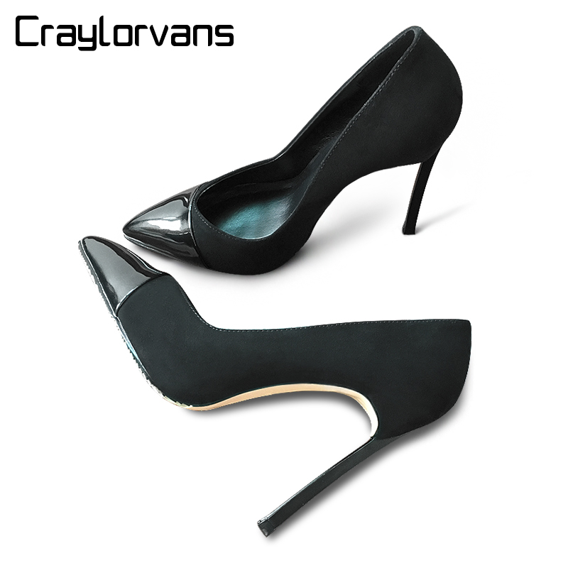 Craylorvans Sexy Women Pumps Thin Heel Pointed Toe High Heels Women Shoes Fashion Party Wedding Shoes craylorvans top quality 8 10 12cm women pumps new fashion leopard color pointed toe high heel wedding shoes ultra thin high heel