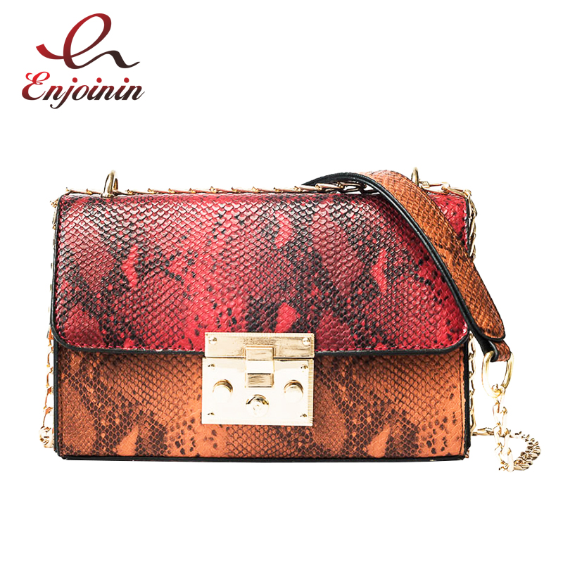 Serpentine fashion design pu leather women's handbag shoulder bag female chain purse crossbody messenger bag ladies flap new fashion weave striped pu leather pearl leather pair mini bag old bag clutch bag female chain purse handbag shoulder bag