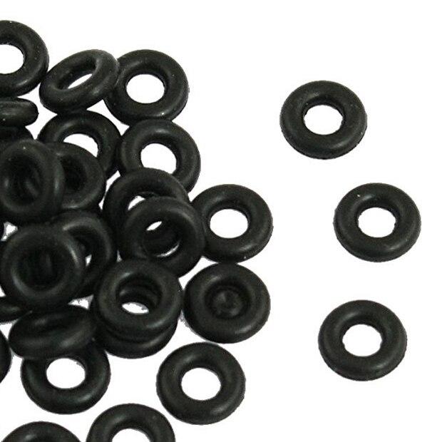 Black 7mm x 2mm O Rings Hole Sealing Gasket Washer 50 PcsBlack 7mm x 2mm O Rings Hole Sealing Gasket Washer 50 Pcs