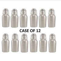 12 Pcs Stainless Steel Beer Growler 64 Oz Swing Top Beer Bottle 2 Litre 304