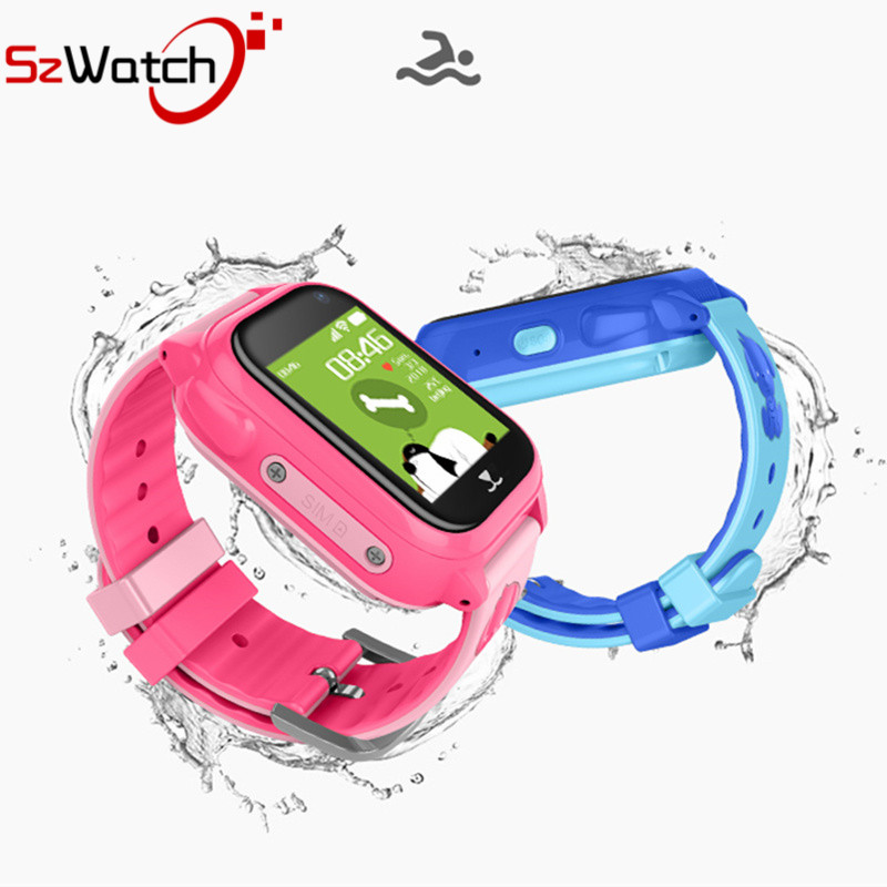SzWatch IP67 Waterproof Children GPS M06 Swimming Smart Watch SOS Call Location Device Tracker Kids Safe Anti Lost Monitor Watch