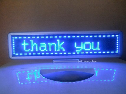 16.5x4  LED Message Scrolling Display Board Programmable Blue color p10 real estate project hd clear led message board 2 years warranty