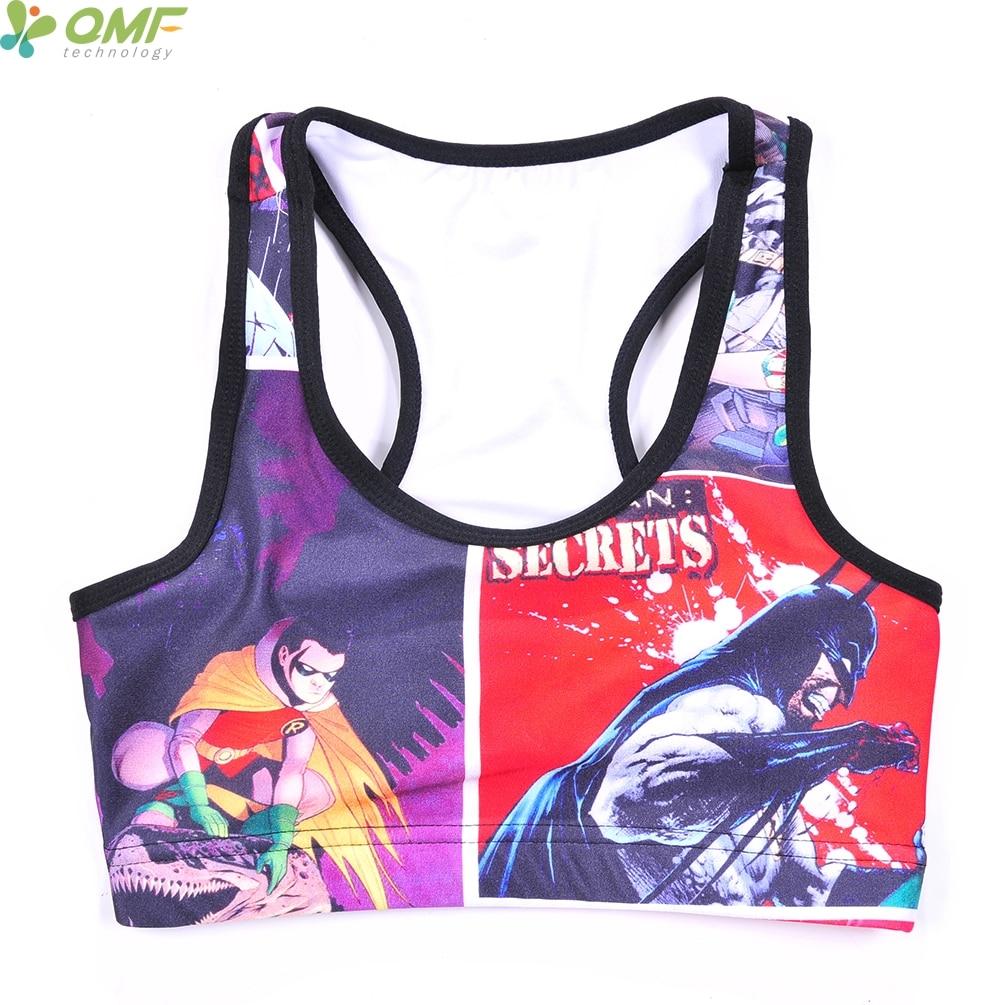 988e79e73b477 Harley Quinn Fitness Yoga Racerback Batman Harleen Quinzel Sports Running  Bras Tops Red Sexy Gym Underwear Women s Black Vests-in Sports Bras from  Sports ...
