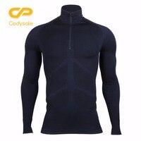 Codysale Men S Compression Zipper T Shirts Fitness Long Sleeve Shirt Thermal Base Layers Tops Sweatshirt