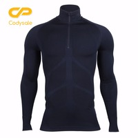 Codysale Men S Compression Zipper T Shirts Fitness Long Sleeve Shirt Thermal Base Layers Tops Sweatshirt