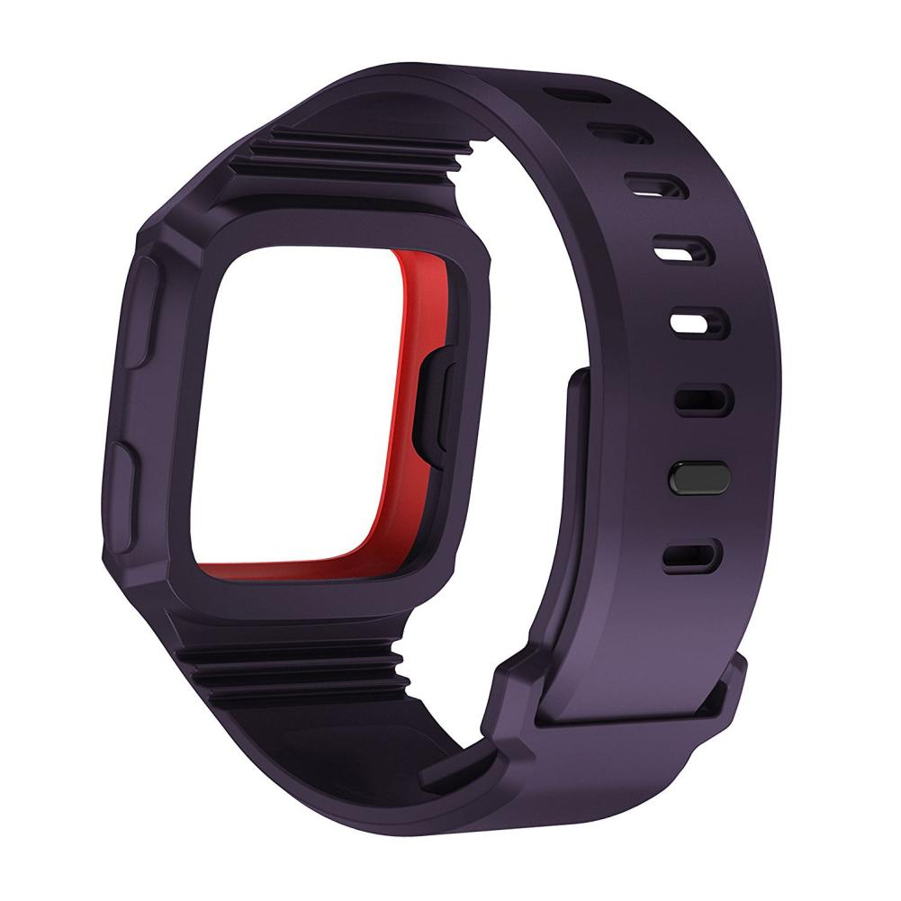 Wholesale Unisex Silicone Strap Replacement Watch Band Protective Frame for Fitbit Versa