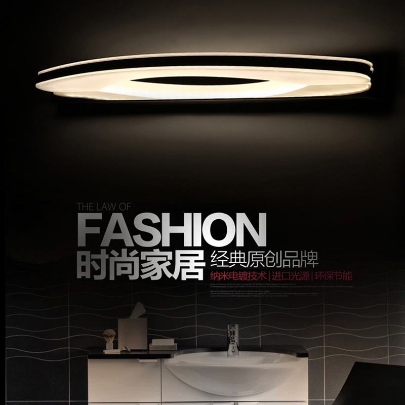 ФОТО led mirror lights 10w front wall mount lamps Stainless Steel mirror vanity light bedroom living led modern bathroom wall lamp