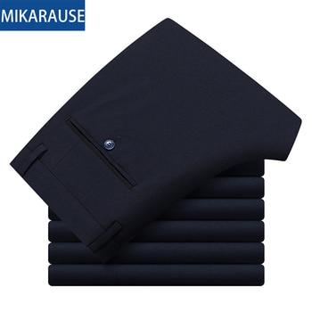 Mikarause boys pants black straight suit trousers kids pants teenage school student performance full length boy pants kids cloth 1